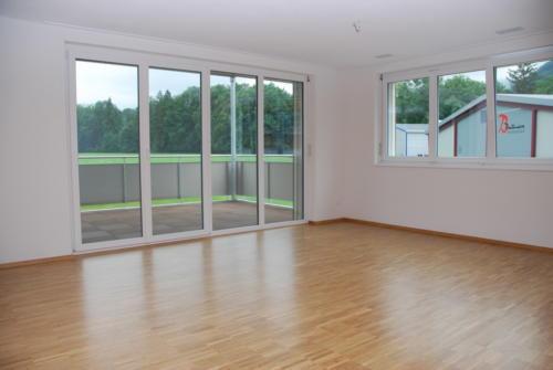 Neubau Kosslismühle_5.5 Zi-Whg_Nr. 1_Wohnzimmer mit Balkon_14.08.2010_7